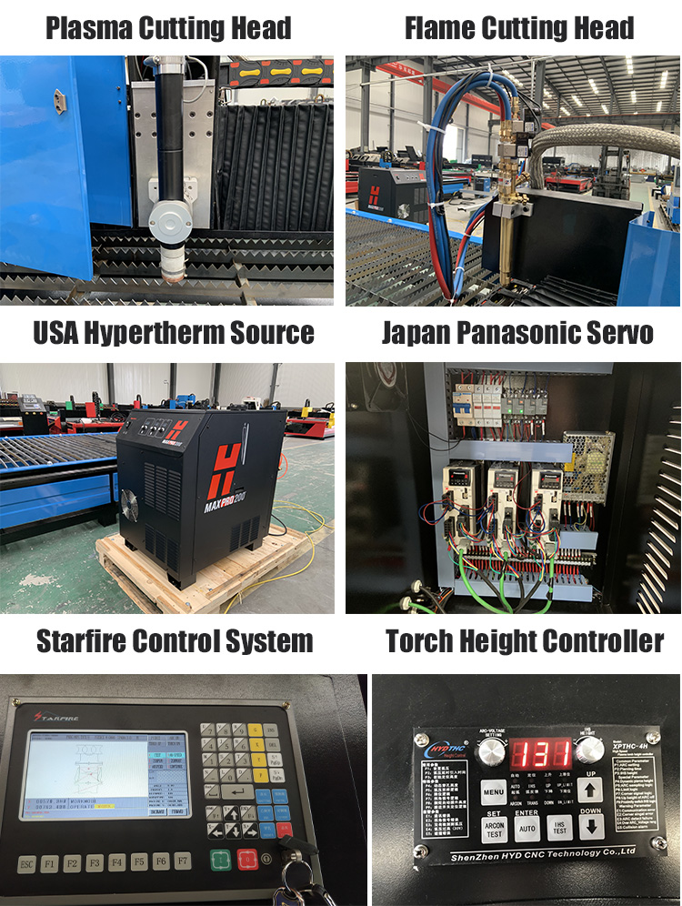 2mx6m Hypertherm 200a Table Plasma Cutting Machine